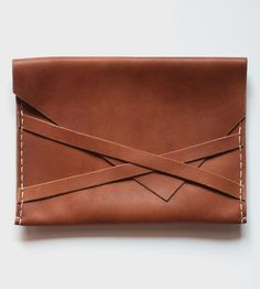 Leather Envelope Clutch | Easy to grab, easy to close — no fuss over here. This leather ... | Clutches & Special Occasion Bags