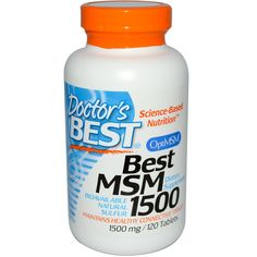 Doctor's Best, Best MSM 1500, 1500 mg, 120 Tablets