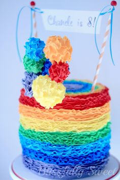 LOVE this rainbow birthday cake!