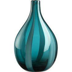 This Vase would look great in my living room! Teal Blue, Aqua, Deep Teal, Dark Blue, Turquoise Glass, Turquoise Color, Shades Of Teal, Blue Home Decor, My Living Room