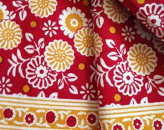 Pure Cotton Indian Fabric Block Print Style Decorative