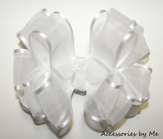 Fancy Organza Hair Bow Girls Baby Toddler by accessoriesbyme, $16.99