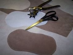 Use thrift store leather or suede jackets to make leather soles for knit or crocheted slippers  ~~