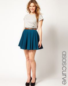 skater skirt with belt