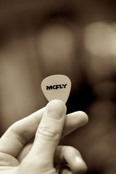 It's one of my McFly goals to get one of their plectrums