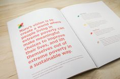 This is a re-design of the 2013 annual report for Nuru International created as a student project.