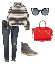 """""""Comfy Stripes"""" by megangordon on Polyvore featuring Clarks Originals, KUT from the Kloth, Givenchy and Fendi"""