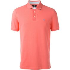 Hackett logo patch polo shirt ($106) ❤ liked on Polyvore featuring men's fashion, men's clothing, men's shirts, men's polos, pink, mens cotton shirts, men's cotton polo shirts and mens polo shirts