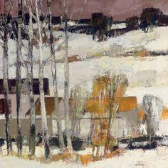 Bernard Cathelin ~ Vallée du Morin en hiver. French (1919 - 2004)
