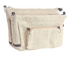 Handbag organiser perfect for Australian Women. Bag Liner designed in WA. Handbag Organization, Natural Linen, Organisers, Fabric, Bags, Design, Women, Fashion, Organisation