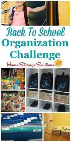 Step by step instructions for back to school organization, including creating a morning launch pad, creating a homework area for kids, and organizing school papers {part of the 52 Week Organized Home Challenge on Home Storage Solutions 101} #BackToSchool #BackToSchoolOrganization #OrganizedHome School Paper Organization, Homework Organization, Home Organization Hacks, Organizing Tips, Backpack Organization, Organising, Homework Area, Home Storage Solutions, Home Management