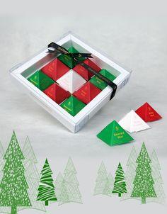 Tea Pyramid Gift Box - Noel #christmas #gifts #tea
