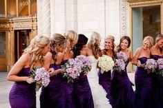 Chicago Wedding by R. Video and Photography Eggplant Wedding Colors, Purple Wedding, Dream Wedding, Perfect Wedding, Eggplant Bridesmaid Dresses, Bridesmaid Dress Colors, Wedding Wishes, Wedding Bells, Glamorous Wedding