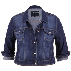 df484ba184e maurices Plus Size - Denim Jacket In Dark Wash ( 49) ❤ liked on Polyvore