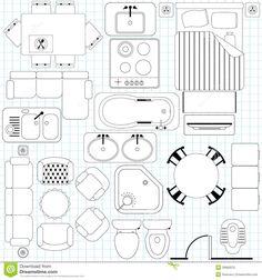 Furniture Floor Plans how to draw sliding door in floor plan - google search | room