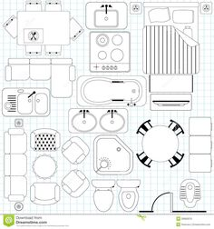 Simple Furniture / Floor Plan - Download From Over 50 Million High Quality Stock Photos, Images, Vectors. Sign up for FREE today. Image: 28982876