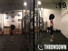 Watch Tim and Blake go head-to-head to 95lb thrusters!