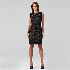 Adrianna Papell Petite Lace Sheath Dress #VonMaur #AdriannaPapell #Black