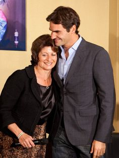 Roger with his mom.