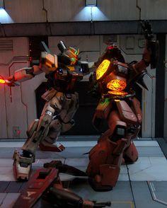 GUNDAM GUY: Gundam Z Diorama w/ LEDs - Custom Build