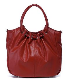 Take a look at this Red Celia Leather Shoulder Bag on zulily today!