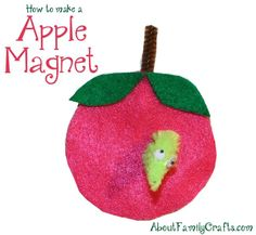 Apple Magnet Craft | About Family Crafts