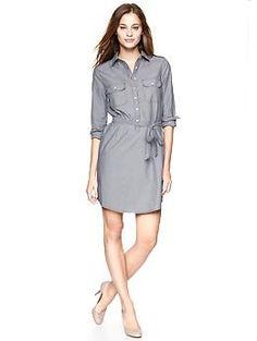 Striped Shirtdress (Striped Indigo). Gap. $59.95