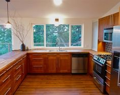 kitchen with no upper cabinets only windows - Yahoo Image Search Results