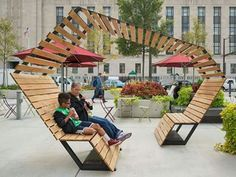 ideas for public seating area design Urban Furniture, Street Furniture, Furniture Design, Furniture Legs, Barbie Furniture, Garden Furniture, Cheap Furniture, Urban Landscape, Landscape Design