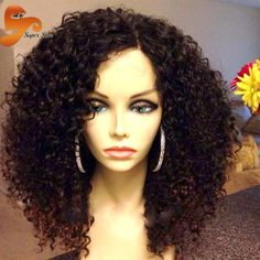 Curly Full Lace Human Hair Wigs For Black Women Kinky Curly Lace Front Wig Brazilian Full Lace Frontal Curly Wig With Baby Hair