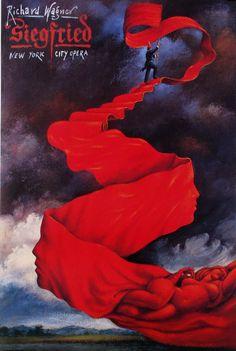 Siegfried - Richard Warner   Original Polish opera poster   designer: Rafal Olbinski