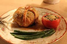 Boeuf en Croute with Madeira Sauce Stuffed Mushrooms, Stuffed Peppers, Egg Wash, Beef Tenderloin, Serving Plates, Unsalted Butter, Baked Potato, Ethnic Recipes
