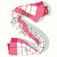 Towel Alphabet: S: by Eleftheria Alexandri, via Behance