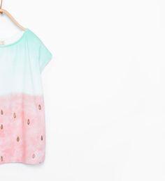 Camiseta frutas brillo