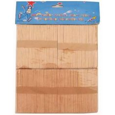 Wood Craft Stick 200Pc Natural Color1 case = 24 @ 0.65 per pack