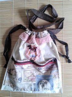 Canvas vintage boho bag romantic crossbody por ShabbyChicVintageBag