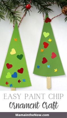 Your kids will love making these colorful paint chip ornaments, as much as you will love the cost! These cheap and easy ornaments are great for class parties and homeschool projects. Use paint chips creatively to make Christmas ornaments. Work your child