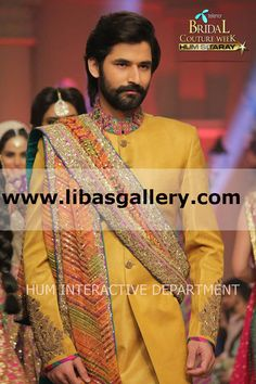Umar sayeed's #TBCW2014 Bridal Collection 2014 - 2015 Telenor Bridal Couture Week 2014 Lahore Wedding Dresses Shop Online Wedding Sherwani Suits, Mens Designer Sherwani, Tailor Made Sherwani Suits For Men. Latest Pakistani Sherwanis For Men And Indian Sherwani For Groom At Affordable Prices www.libasgallery.com Trends From the Telenor Bridal Couture Week 2014 Runways