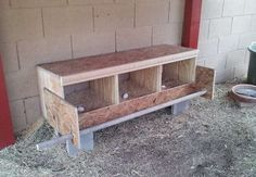 Here is a diy step by step process of building a Chicken Coop Nesting Box (Egg Laying Box). The size, variety and the location of a chicken nesting box will vary depending on your needs. Chicken Roost, Chicken Barn, Best Chicken Coop, Backyard Chicken Coops, Chicken Coop Plans, Building A Chicken Coop, Chickens Backyard, Chicken Nesting Boxes, Nesting Boxes For Chickens
