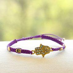 Hamsa Hand in Purple – LucaLove Bracelets