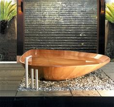 4 unique freestanding wooden bathtubs by Bagnosasso #bagnosasso #bathtubs #freestanding #unique #wooden
