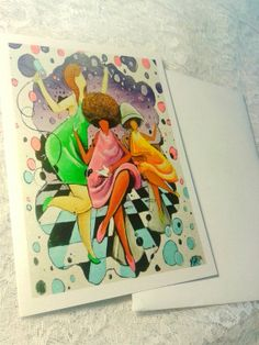 Hair and Beauty Greeting Card by ArtbyAnt on Etsy, $5.00