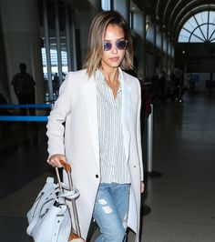 WHO: Jessica Alba WHERE: Los Angeles International Airport WHEN: May 5, 2015