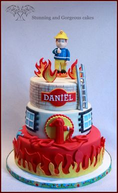 Berichten over brandweerman sam op Stunning and Gorgeous Fireman Sam Birthday Cake, Fireman Sam Cake, Fireman Party, Firefighter Birthday, 4th Birthday Cakes, Cupcakes, Cupcake Cakes, Gateau Harry Potter, Fire Cake