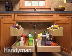How to Build Kitchen Sink Storage Trays - Step by Step: The Family Handyman