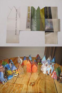 Papierhaus-Adventskalender - paper house Advent calendar