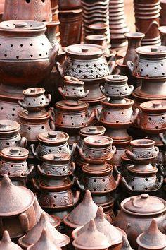 The famed handmade ceramics of Tcheriba, Burkina Faso.