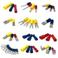 Pre-insulated red, blue and yellow crimp terminals, bootlace ferrules, and quick splice connectors suitable for low voltage automotive and marine wiring. List & description of JAR UK Industries products :assortments, bulbs, lubricants, electrical, fasteners, fixings, trim clips, welding and abrasives. We only stock high quality brands and manufacturers you can trust : Autolamps, Autosol, Jubilee, Guardian, Granville and Saint Gobain. Please contact us if you can't find what you're looking…