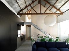 Shed-Sydney-Richard-Peters-Associates-Heidi-Dokulil-steel-mesh-stair