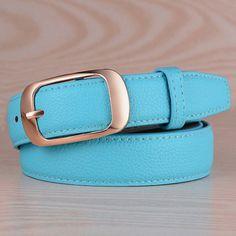 15 color Belts For Women Cintos Femininos 2017 Buckle Women's Leather Belt Waistband Female Straps PU Buckle cowboy belts Y116